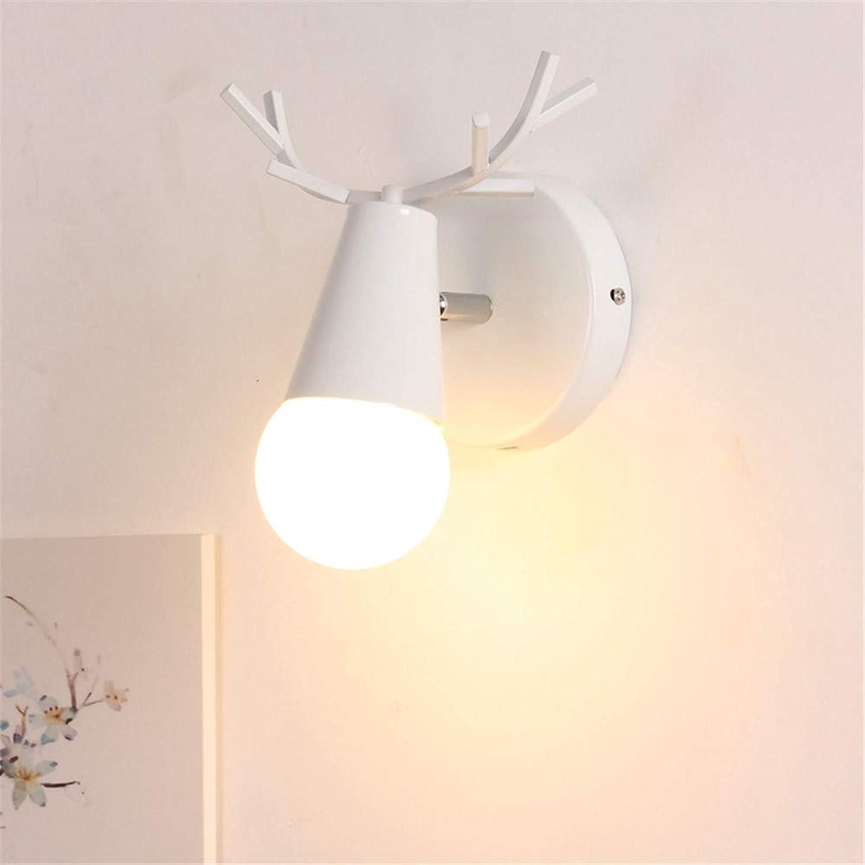 ACCEY Nordic Mediterranean Zimmerlampe Jungen und Mdchen Prinzessin Hirsch Schlafzimmer Wandlampe pastorale einfache europische Wohnzimmerlampen, A