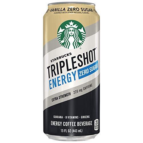 Starbucks Tripleshot Zero Sugar Energy Extra Strength Espresso Coffee Beverage, Vanilla, 15 oz Cans (12 Pack)