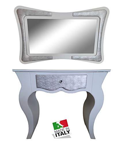 oggettando CONSOLLE con SPECCHIERA Arredo Soggiorno Salotto Camera da Letto Cucina da Ingresso Ufficio Bar Ristorante Regali utili, Originali ed Economic.