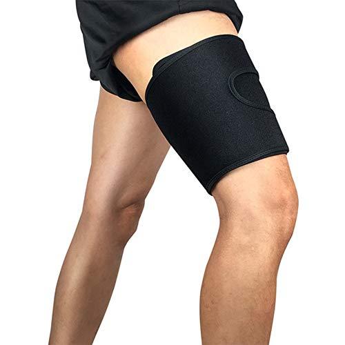 HXHH Einstellbare Leggings Knieschützer, Basketball Fußball Sport Leggings Muskelschutz Wicking Schutz Oberschenkel Fitness Squat Knieschützer Leggings (1 Paar),L