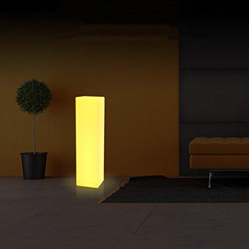 Augrous staande lamp met rechthoekige zuil, 16 kleuren, wijzigen, staande lamp met afstandsbediening, waterdicht, opladen buiten, tuinverlichting
