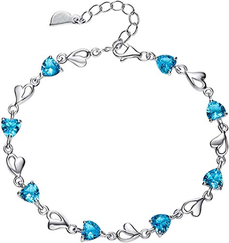 Armband Schmuck Damenarmband Sky Blue Diamond Zircon Crystal Armband