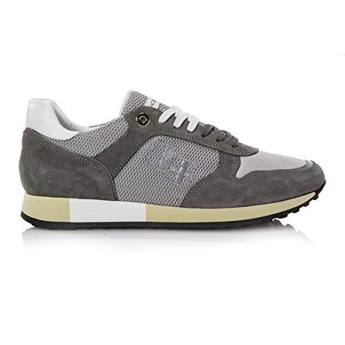 D'Acquasparta Sneaker camoscio Jesse Grigio Perla Made in Italy Nr. 40