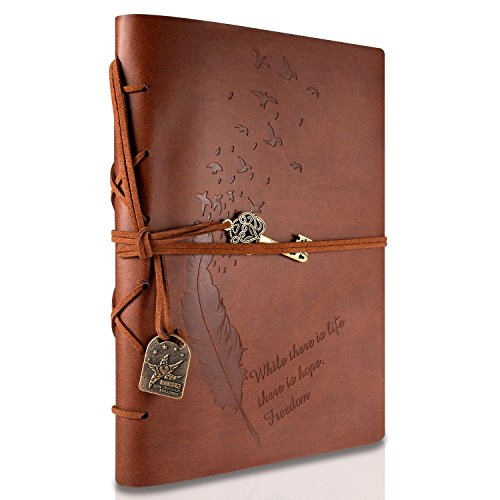 RYMALL Carnet De Voyage A5, Journal Intime, New Cuir Vintage Magique Key String Notebook Journal Blank Agenda...