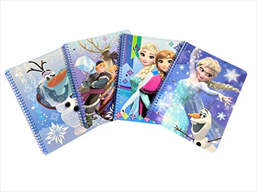 Set Of 4 Frozen Spiral Notebooks Back To School Notebooks For Students