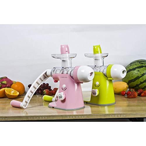 Fruit Juicer Hand-cranked Kinder-Eiscreme-Maschine Apple Gemüsebild-Multi-Funktion Manual Juicer Haushalt Kleine Portable Gürtel (Grün + Weiß)