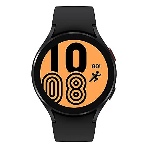 Samsung Galaxy Watch4 montre connectée intelligente, smartwatch, surveillance de la santé, suivi de la condition physique, bien-être, sport, IMC, ECG, batterie longue durée, Bluetooth, 44 mm, noir