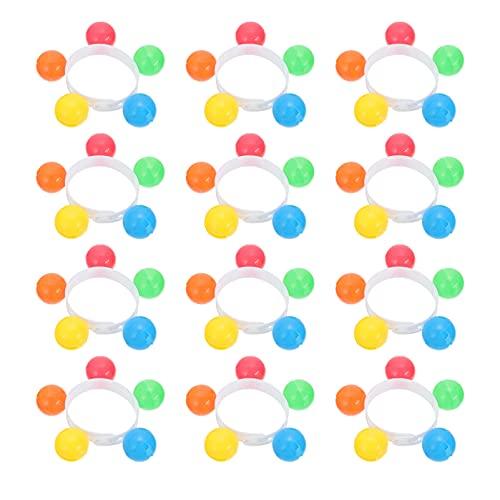 jojofuny 12 Piezas de Bandas para La Muñeca de Plástico Cascabeles Juguetes de Ritmo Musical Campanas para La Muñeca Campanas para El Pie Instrumento de Percusión Juguete para Niños ( Color