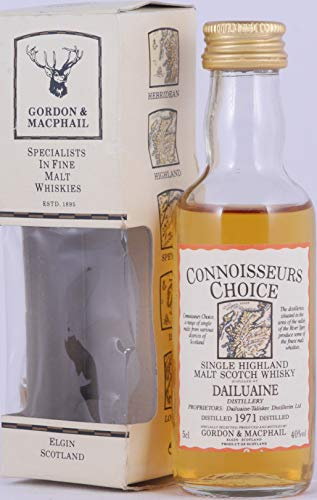 Dailuaine 1971 23 Years Gordon & MacPhail Connoisseurs Choice Miniature Highland Single Malt Scotch Whisky 40,0% Vol. / 50ml - seltene alte Miniatur Abfüllung!