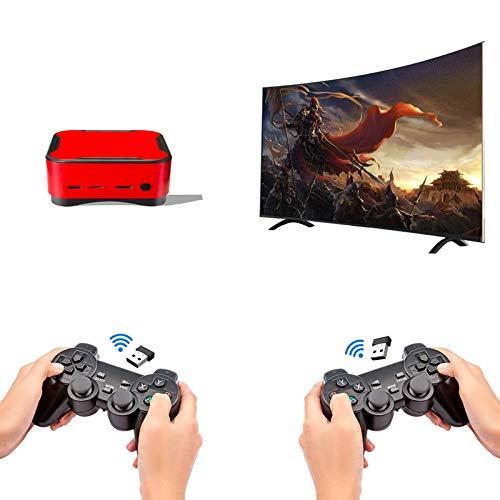 Mini Consola De Videojuegos, Más De 10,000 Juegos Integrados, con Tarjeta TF De 32G/64G/128G Y 2 Gamepads, Consola De Juegos para TV 4K, Admite 4 Jugadores, Admite Salida HDMI/AV,32G