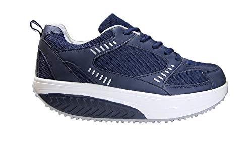 Mapleaf Zapatillas Mujer Hombre Ropa Deportiva Mujer Zapatos Mujer Comodos Zapatillas para Adelgazar Zapatillas Sneakers Mujer Deportivas Mujer Running Zapatilla Andar Sneakers Mujer Azul Talla 38