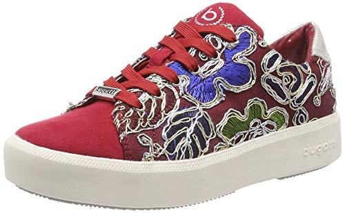 bugatti 431407056469, Zapatillas Mujer, Multicolor (Red/Multicolour 3081), 36 EU