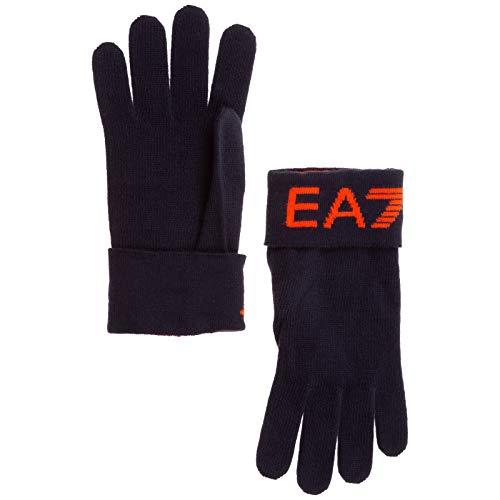Emporio Armani EA7 herren Handschuhe blu navy/red fluo M