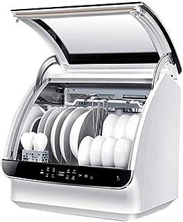 WYZXR Mini lavavajillas, 6 Juegos de vajilla para lavavajillas automáticos para el hogar, operación táctil Ahorro de Electricidad Lavavajillas compactos para Cocina de Apartamentos