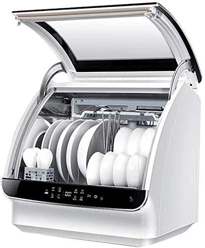WYZXR Mini Lave-Vaisselle, 6 Ensembles de Vaisselle Lave-Vaisselle Automatique Ménage Operation Fonctionnement Tactile Économie d'électricité Lave-Vaisselle compacts pour Cuisine d'appartement