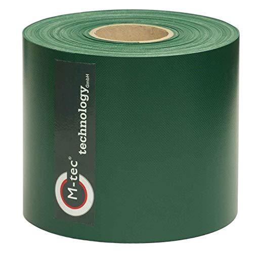 PVC Sichtschutzstreifen/M-tec Profi-line ® / 65m x 19 cm ✔ moosgrün ✔ kein Verbleichen ✔ kein Schrumpfen ✔ knitterfrei ✔ | Nach M-tec technology Rezeptur hergestellt |