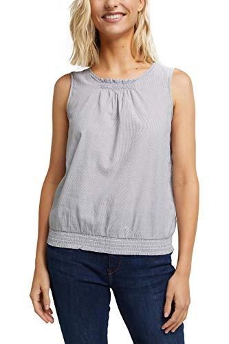 edc by ESPRIT Damen 040CC1F321 Bluse, 001/BLACK, XL