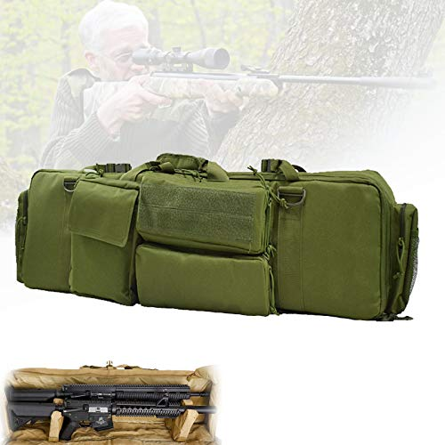 Caza Gun Rifle Bolsa, Funda Rifle Air con Gran Capacidad, Tela Impermeable, Cojín de Pedestal, Material de Nailon, Bolsa de Aparejos de Pesca para Tiro, Entrenamiento de Simulación