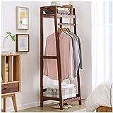 BBZZ Percha de piso percha de pie estante de zapatos estante de zapatos muebles de entrada de vestíbulo de ropa estantes de hogar muebles de sala de estar (color: beige)