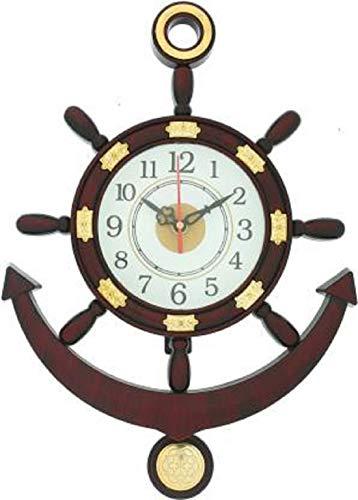 Mishty Plastic Wall Clock (Brown_36 X 26 Cm)