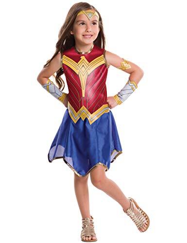 Rubies - Disfraz Oficial de Wonder Woman - Disfraz clásico de Wonder Woman, Talla L7/8 años (117 a 128 cm)