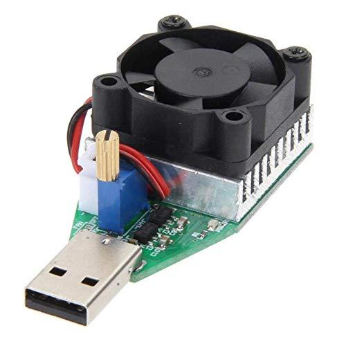 YoUZHA 15W RD Industrial Grade USB Elektronische oplaadweerstand Constante stroomtester mobiele energiemeter capaciteit instelbaar met ventilator PC 1