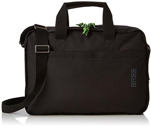 BREE Unisex-Erwachsene PNCH Style 67 Briefcase Schultertasche, Schwarz (Black), 8x27x38 cm