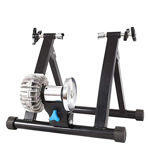 BATOWE Équitation de vélo Machine Machine à vélo Fluid Vélo Résistance Stand Vélo Intérieur Stand Stand Mountain & Road Vélo Portable Pliable Cyclisme Train de Formation