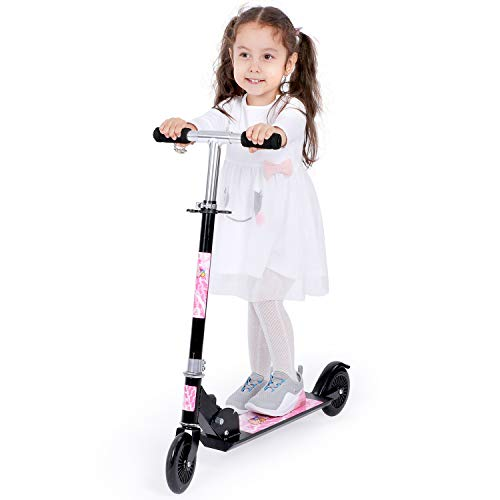Birtech Folding Kids Scooter Kick Scooters 2 Wheels Adjustable Height for Boys and Girls 3-8 Years...