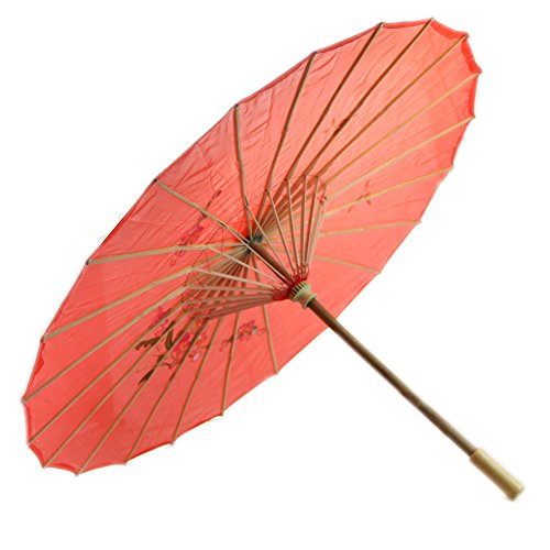 Dairyshop Ombrello Giapponese Cinese Art Deco Dipinto Ombrellone per Matrimonio Danza Party(Rosso)