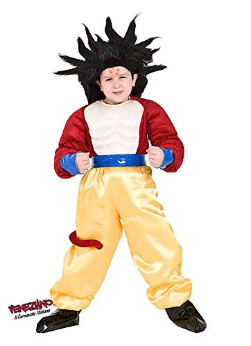 VENEZIANO Costume Carnevale da Dragon GT Vestito per Ragazzo Bambino 7-10 Anni Travestimento Halloween Cosplay Festa Party 8115 L