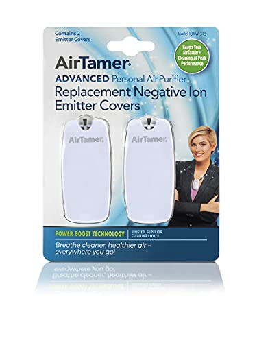 AirTamer Advanced Personal Air Purifier Replacement Negative Ion Emitter Covers - Made for AirTamer Model A315 (White, 2-pack)