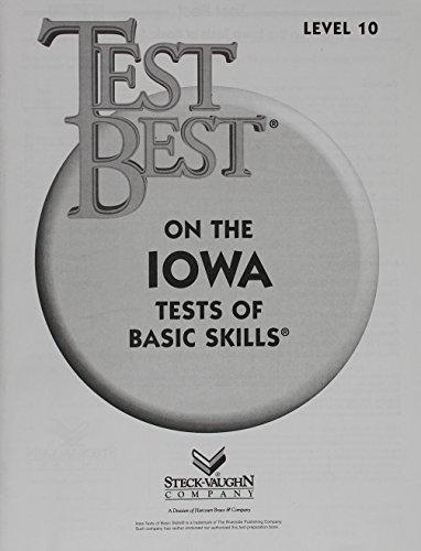 Test Best Itbs Test Workbook Grade 4 Level 10