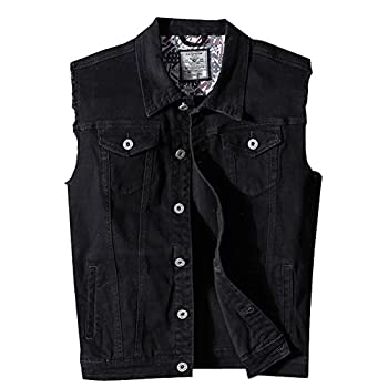 Best sleeveless denim jacket men Reviews