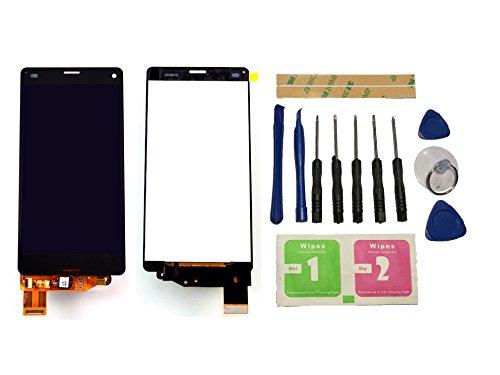 Flügel für Sony Xperia Z3 Compact Mini D5803 D5833 Bildschirm LCD Ersatzdisplay Schwarz Touchscreen Digitizer Display Glas Assembly (ohne Rahmen) Ersatzteile und Werkzeuge und Kleber