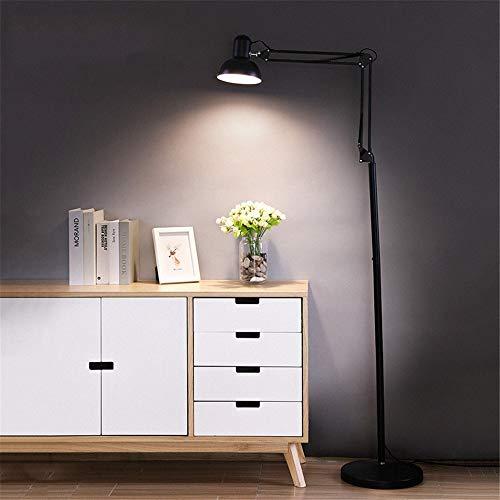 Lámpara de pie Lámpara de pie Ajustable LED for la Sala de Estar de pie luz de Acento En Las recámaras Oficina Lámpara Poste Alto Planta de luz LED (Color : Black, Size : 28.5 * 28.5 * 132cm)