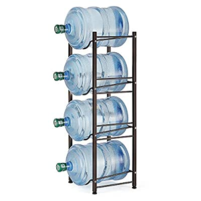5 Gallon Water Jug Holder Water Bottle Storage Rack, 4 Tiers by