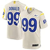 TGFH Camiseta de fútbol americano personalizada camisetas Aaron Los Ángeles NO.99 Rams Donald Game Jersey - hueso