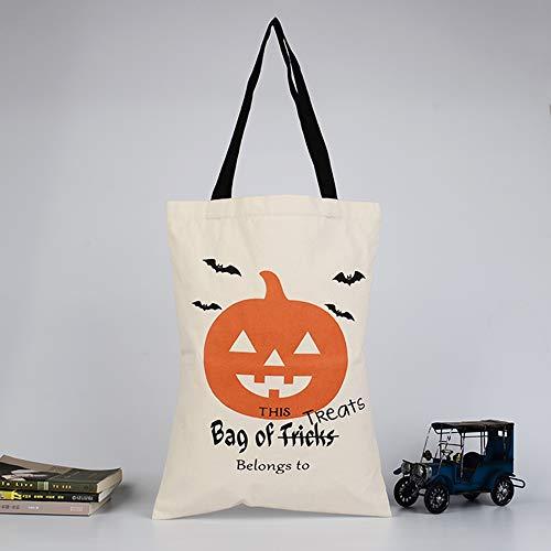 WEYQ Halloween Candy Filzhalter Eimer mit Griff Süßes oder Saures Beutel Kinder Handtasche Tote Goodie Geschenkbeutel für Partydekorationen,C