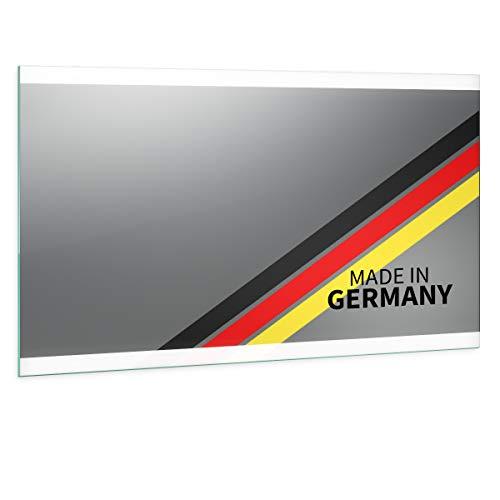Spiegel ID Noemi Oben unten Design: LED BADSPIEGEL mit Beleuchtung - Made in Germany - individuell nach Maß - Auswahl: (Breite) 90 cm x (Höhe) 80 cm