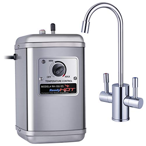 Ready Hot 41-RH-150-F560-CH Compact Instant Hot Water Dispenser, Manual Temperature Control, Reverse Osmosis Compatible, Polished Chrome