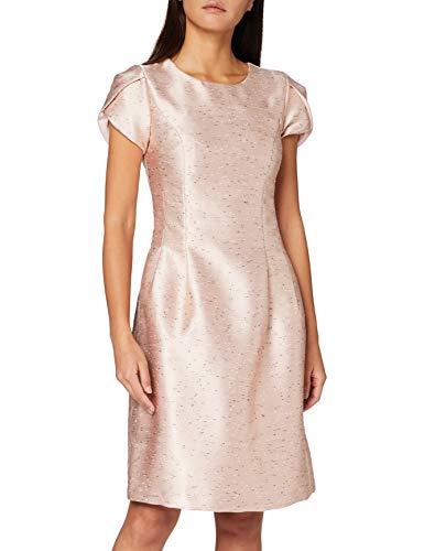 APART Fashion Damen Jacquard Dress Cocktailkleid, Powder-black, 42 EU