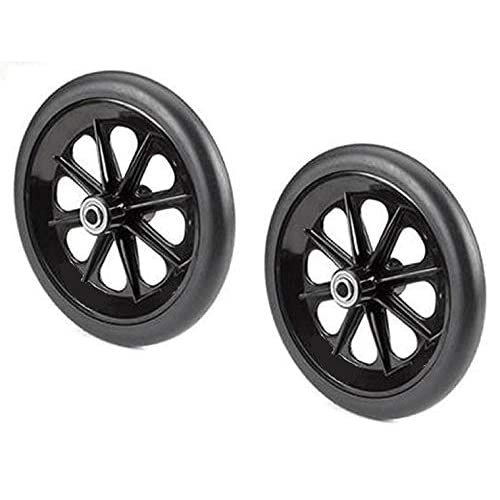 """Solid Flat Free 8x1/"""" Front Caster Black Wheelchair Wheel 5//16 Inch Bearing New"""