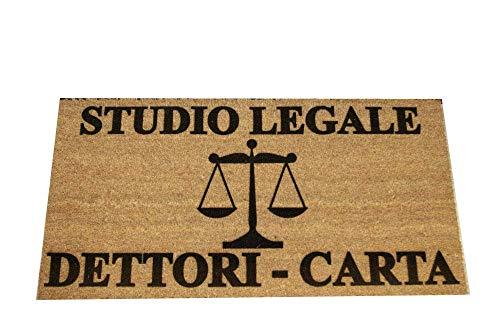 Zerbino Personalizzato - Studio Legale, Tuo Nome, simbolo professione - uso interno, in cocco naturale cm. 100x50x2 LOVEDOORMAT Marchio Registrato Handmade in Italy
