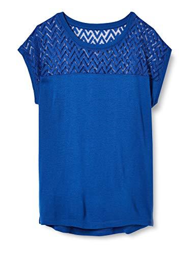 ONLY Damen Onlnew Nicole Life S/S TOP JRS T-Shirt, Mazarine Blue, M