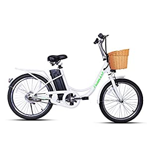 nakto Electric Bicycle for Women Men and Adults Shimano 6-Speed Gear Ebike with Removable 250W/36V/10AH Lithium Battery