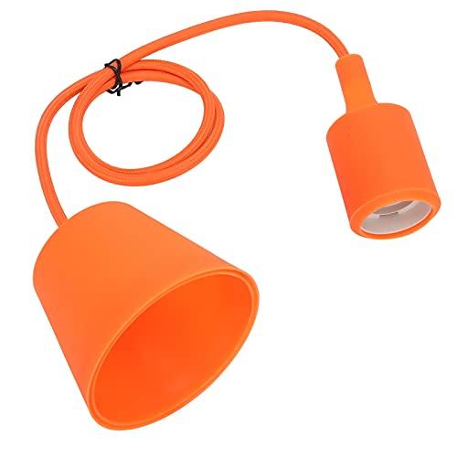 E27 Zócalo de luz de techo LED Base de soporte de lámpara colgante ajustable Cable de linterna colgante Extensor de enchufe de cable 250 V(naranja)