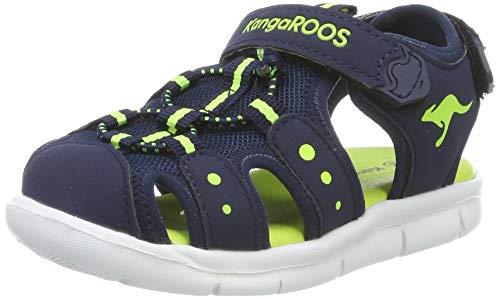 KangaROOS Unisex Baby K-Mini Sandalen, Dark Navy/Lime 4054, 24 EU