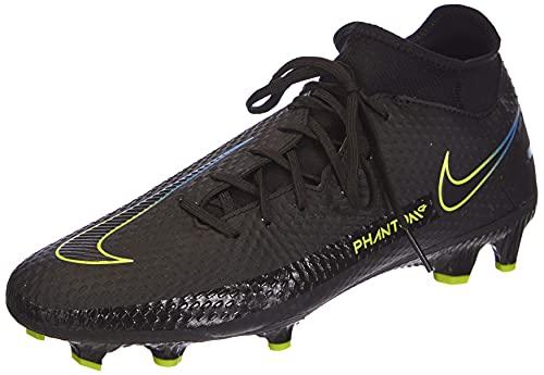 Nike Phantom GT Academy DF FG/MG, Scarpe da Calcio Unisex-Adulto, Black/Black-Cyber-lt Photo Blue, 43 EU