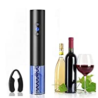apribottiglie elettrico automatico per vino, cavatappi elettrico con tagliapasta per vino, adatto per gli amanti del vino, natale, feste